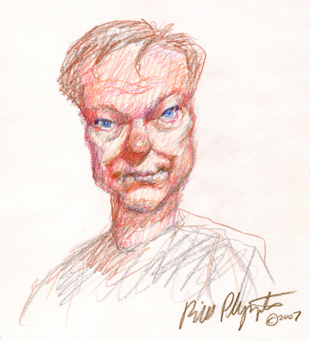 Bill Plympton - self portrait.