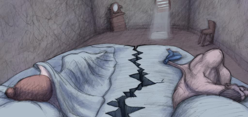An image from Bill Plympton's 'Cheatin.' Courtesy of 'Cheatin''