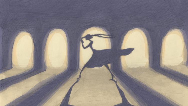A silhouette of Ella. Courtesy 'Cheatin' film.