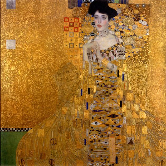 Adele Bloch-Bauer I,  drawn by Gustav Klimt.