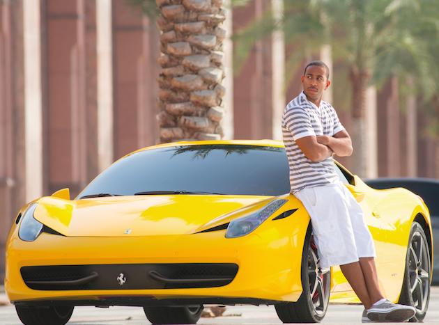 A yellow FERRARI 458 will do just fine for Tej (Ludacris). Courtesy Universal Pictures.
