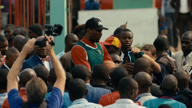 Ibaka surrounded by his fans. Courtesy ESPN/Grantland
