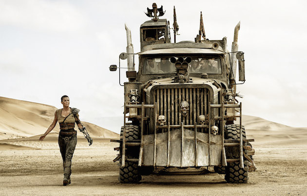 "The War Rig. (L-r) CHARLIZE THERON as Imperator Furiosa ZOË KRAVITZ as Toast the Knowing, COURTNEY EATON as Cheedo the Fragile, RILEY KEOUGH as Capable, TOM HARDY as Max Rockatansky and NICHOLAS HOULT as Nux in Warner Bros. Pictures' and Village Roadshow Pictures' action adventure ""MAD MAX: FURY ROAD,"" a Warner Bros. Pictures release.Photo Credit: Jasin Boland"