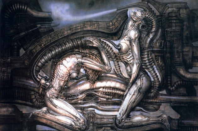 One of the images Giger created for his Necronomicon. Courtesy 'Dark Star: H.R. Giger's Universe.'