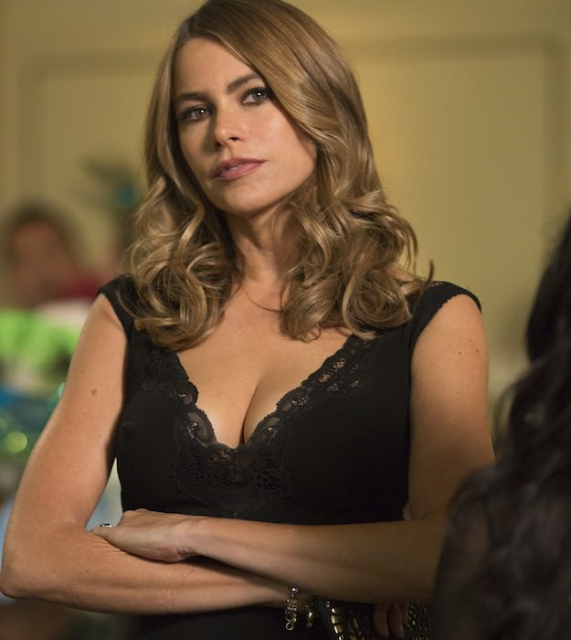 Vergara in a black gown. Courtesy Warner Bros. Pictures