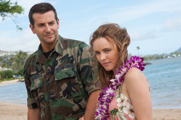 "Bradley Cooper, left, and Rachel McAdams star in Columbia Pictures' ""Aloha,"" also starring Emma Stone."