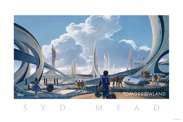 Conceptual Art look at Tomorrowland. Artist: Syd Mead Disney 2015
