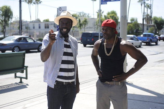 L-r: Director Rick Famuyiwa and Bruce Beatty. Courtesy Open Road Films
