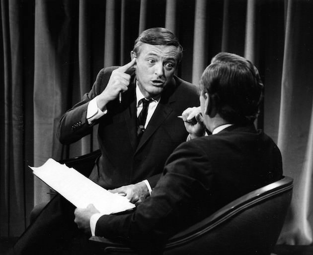 William F. Buckley Jr. and Gore Vidal in BEST OF ENEMIES, a Magnolia Pictures release. Photo courtesy of Magnolia Pictures