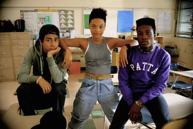L-r: Jib (Tony Revolori), Diggy (Kiersey Clemons) and Malcolm (Shameik Moore). Courtesy Open Road Films.