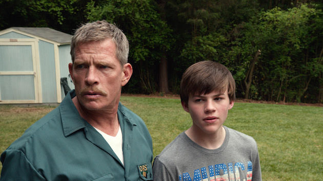 "Caption: (L-r) THOMAS HADEN CHURCH as Ray Wincott and JOSH WIGGINS as Justin Wincott in Warner Bros. Pictures and Metro-Goldwyn-Mayer Pictures' family drama ""MAX,"" a Warner Bros. Pictures and Metro-Goldwyn-Mayer Pictures release."