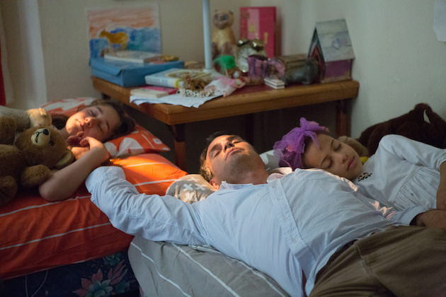 Left to right: Imogene Wolodarsky as Amelia Stuart, Mark Ruffalo as Cam Stuart and Ashley Aufderheide as Faith Stuart Photo by Seacia Pavao, Courtesy of Sony Pictures Classics