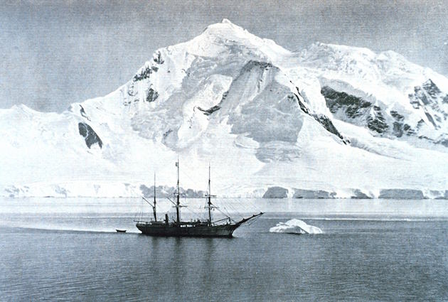 The Belgica anchored at Mount William. Photo by by G. Lecointe, 1903.