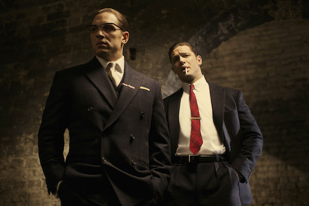 Tom Hardy in Legend. Courtesy Studio Canal/Universal Pictures.
