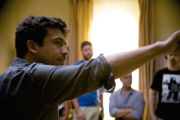 Alfonso Gomez-Rejon on set in ME AND EARL AND THE DYING GIRL. Photo by Anne Marie Fox. © 2015 Twentieth Century Fox Film Corporation All Rights Reserved