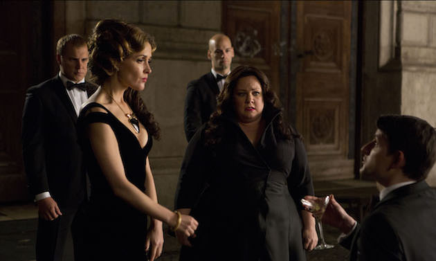 Melissa McCarthy infiltrates an arms dealing ring led by Rose Byrne (left). Courtesy 20th Century Fox