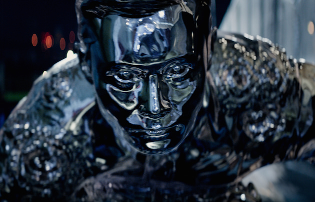 Byung-hun Lee plays a similar T-1000 to what Robert Patrick played in T2. Byung-hun Lee is a T-1000 in TERMINATOR GENISYS from Paramount Pictures and Skydance Productions.