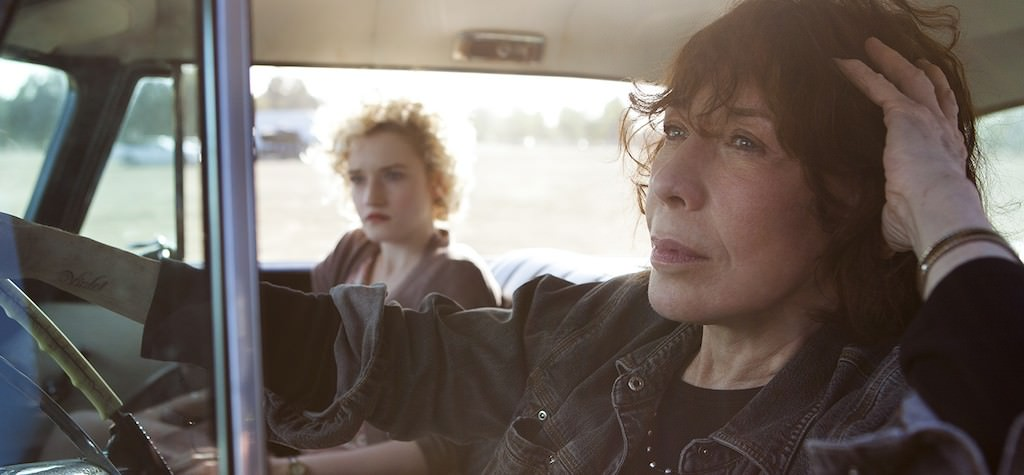 Left to right: Julia Garner as Sage and Lily Tomlin as Elle Photo by Aaron Epstein, Courtesy of Sony Pictures Classics