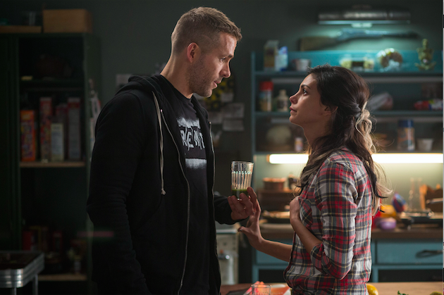 Wade Wilson (Reynolds) and new squeeze Vanessa (Morena Baccarin) trade barbs. Photo by Joe Lederer. Courtesy 20th Century Fox.