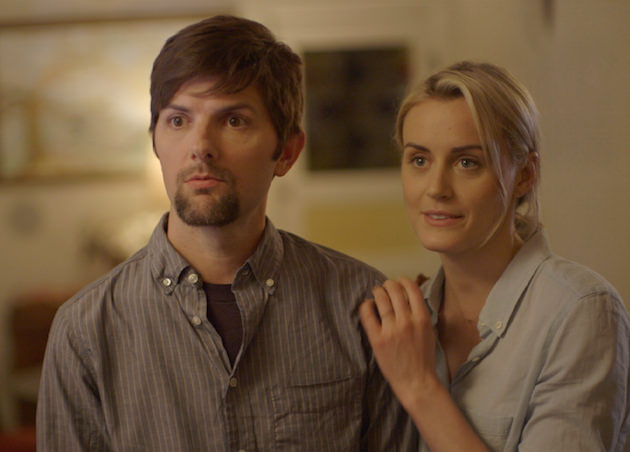 Adam Scott and Taylor Schilling in 'The Overnight.' Courtesy Orchard Films