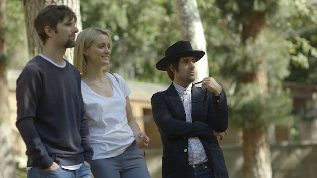 Adam Scott, Taylor Schilling and Jason Schwartzman. Courtesy Orchard Films