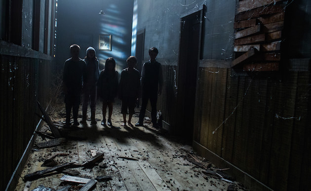 The Children advance in director Ciaran Foy's horror movie SINISTER 2, a Gramercy Pictures release.