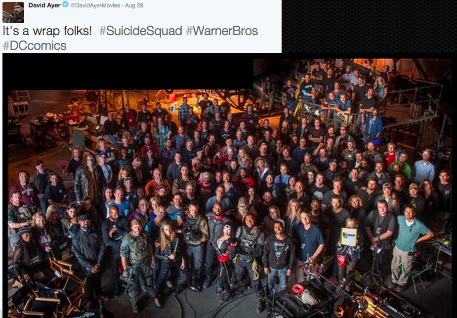 David Ayer's wrap photo.