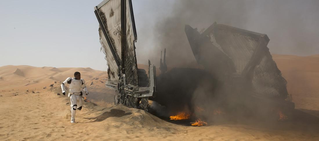 John Boyega is Finn in 'Star Wars: The Force Awakens.' Ph: David James ©Lucasfilm 2015