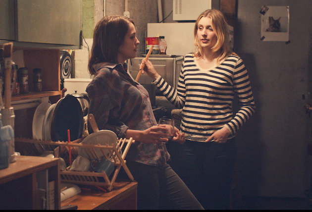 "Lola Kirke as ""Tracy"" and Greta Gerwig as ""Brooke"" in MISTRESS AMERICA. Photo courtesy of Fox Searchlight Pictures. © 2015 Twentieth Century Fox Film Corporation All Rights Reserved"
