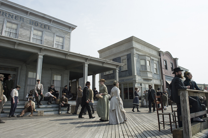 The Atlantic City boardwalk in 1884 Couretsy HBO.