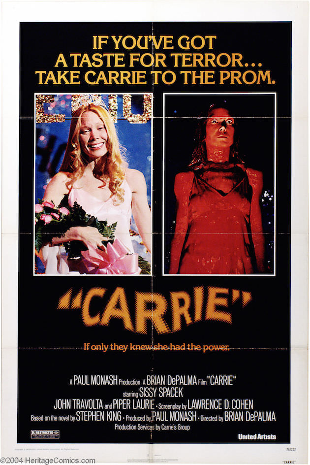 Carrie theatrical poster.