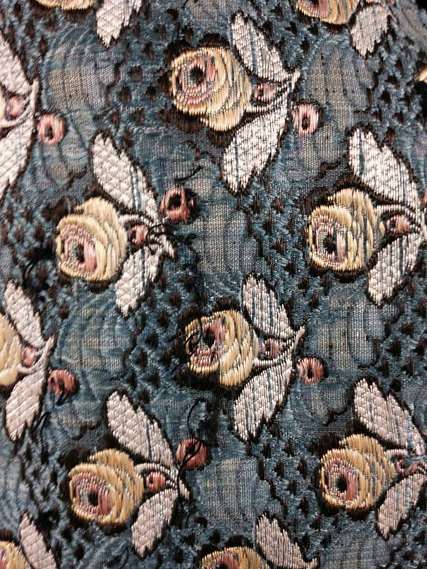 Embroidered fabrics. Courtesy Anna Robbins
