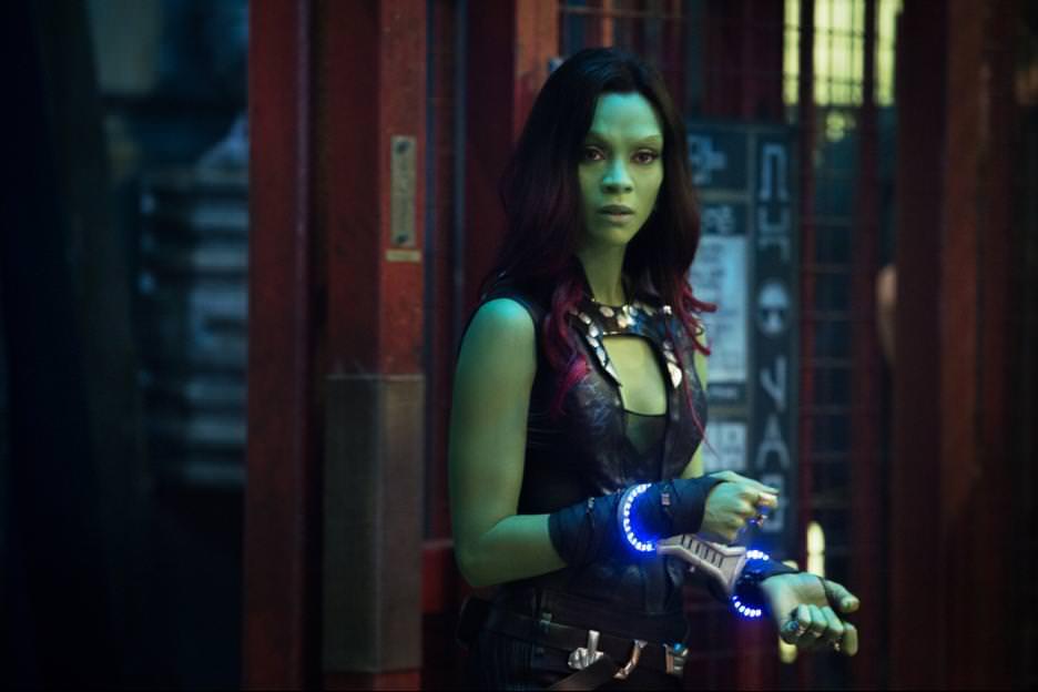 Zoe Saldana is Gamora. Courtesy Walt Disney Picturs/Marvel Entertainment