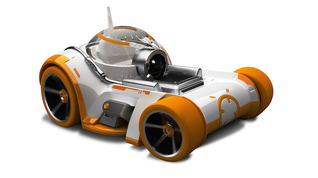 Hot Wheels? Star Wars Kylo RenTM and BB-8 Character Cars   *Embargo lifts at 11:30 local time on 9/3 (22:30 EDT on 9/2)*   Licensee: Mattel MSRP: $3.49 each Available: September 4   This sleek, ominous racecar takes command of the road with the speed and intensity of the dark warrior, Kylo Ren. The villain?s mysterious hood drapes over the rear fenders of the vehicle to cloak its identity, while the cockpit captures the form of his warrior-like helmet. Kylo Ren?s tri-bladed Lightsaber runs along the side trim, using the power of the Force to thrust this machine into hyperdrive with a fiery burst of propulsion!   Lively spirit and quick intelligence radiate from this engaging hot rod, always ready to spin into action like the loyal Droid, BB-8?. Geometric curves and seamlessly integrated wheels give the vehicle a high-tech appeal, enhanced by its exposed motor and ingenious electrical components. A low dome completes its compact profile, ensuring a speedy dash into action when the rear booster ignites.