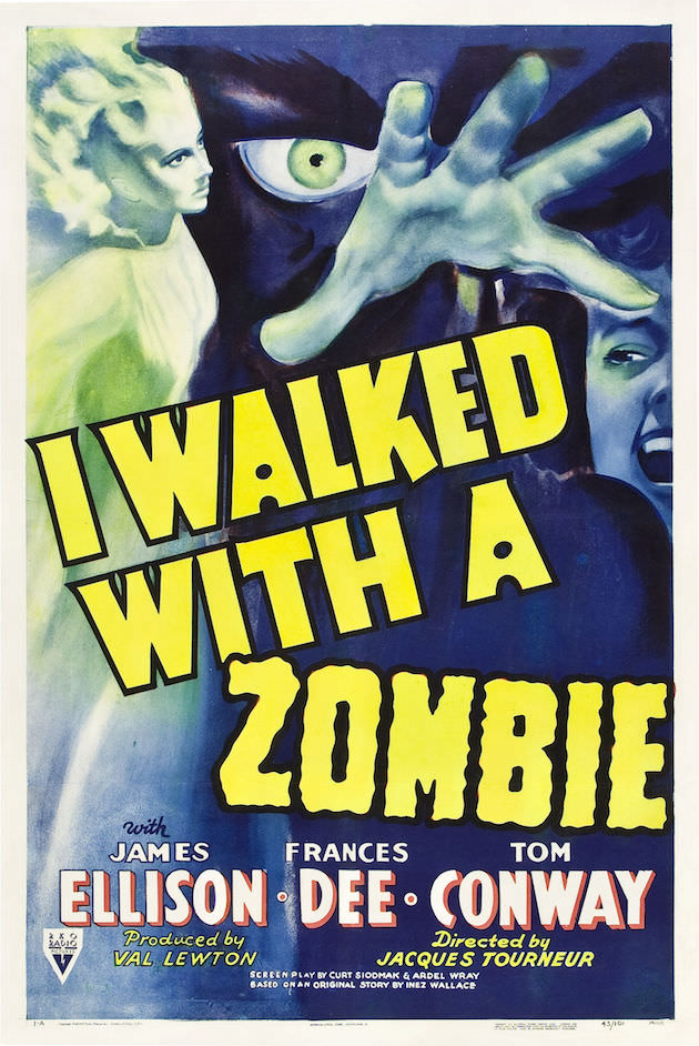 I Walked With A Zombie theatrical poster.