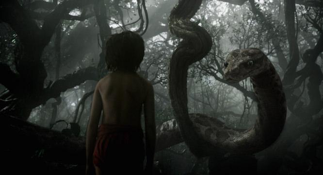 Scarlett Johansson plays the python Kaa. Courtesy Walt Disney Pictures