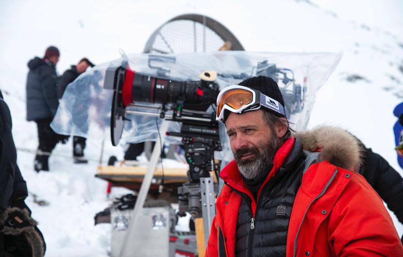 "Director/Producer BALTASAR KORMÁKUR on the set of ""Everest"". Photo by Jasin Boland. Courtesy Universal."