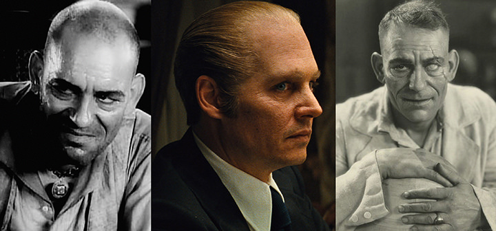 Lon Chaney as the mad magician Phroso in West Of Zanzibar (1928): © MGM/Distributed by Warner Bros. Pictures. Johnny Depp as Whitely Bulger in Black Mass (2015): © Warner Bros. Pictures Lon Chaney as Singapore Joe in The Road To Mandalay (1926). © MGM