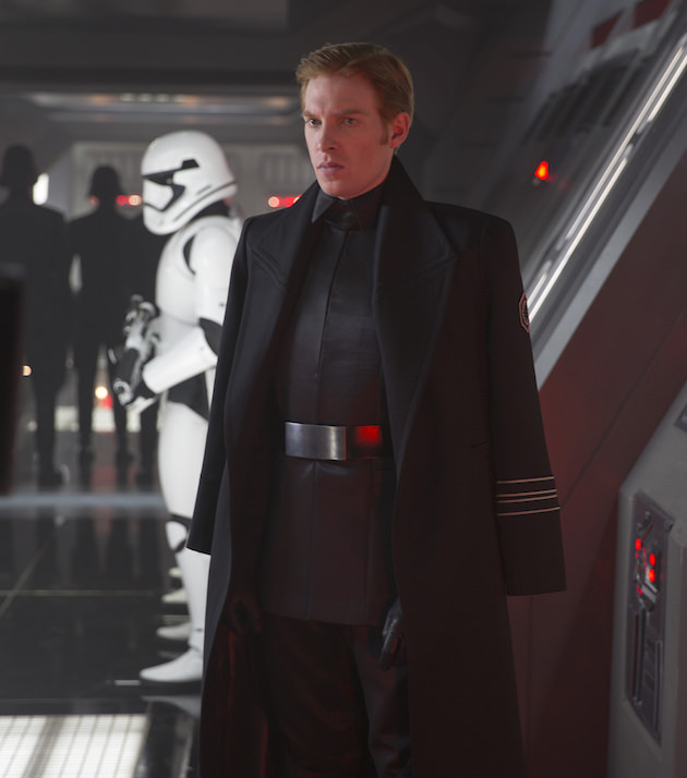 General Hux (Domhnall Gleeson) Ph: David James. ©Lucasfilm 2015