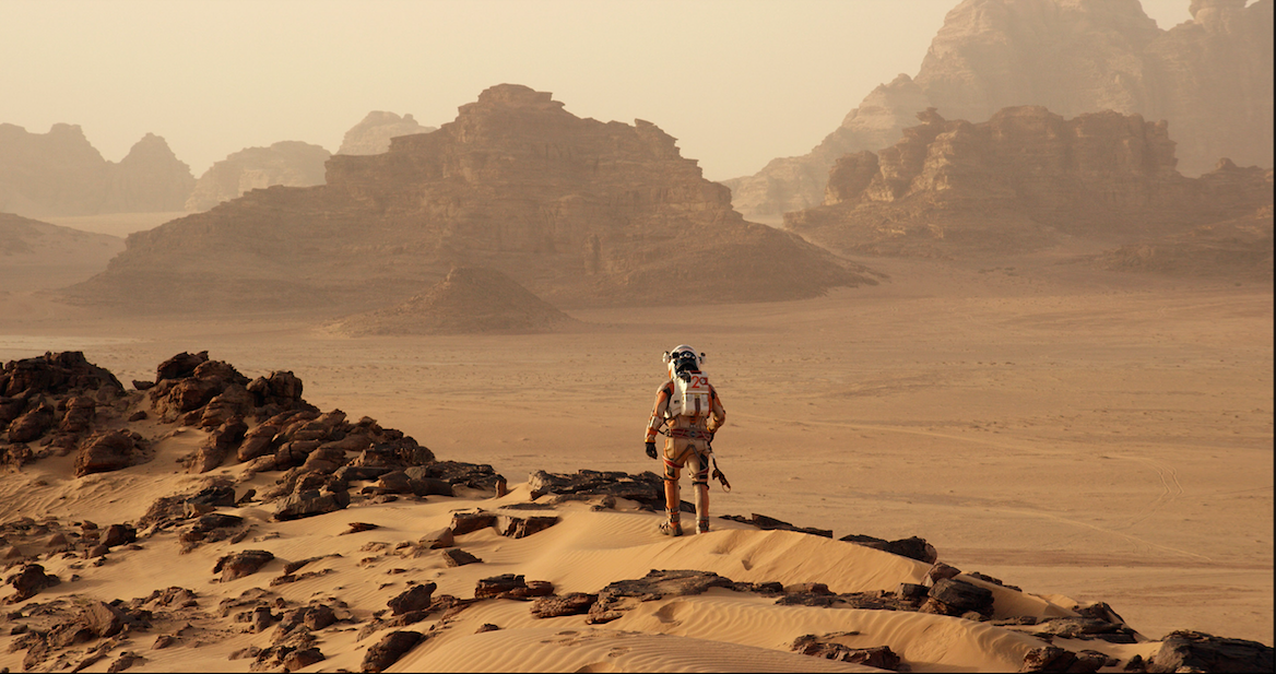 With little time due to a compressed schedule, 'The Martian's' FX team pre-built the Martian landscape so they'd be ready to go on date one. Photo Credit: Courtesy 20th Century Fox. - TM & © 2015 Twentieth Century Fox Film Corporation.