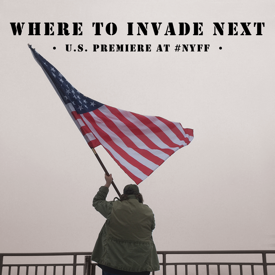 Where to Invade Next theatrical poster. Courtesy Dog Eat Dog Films