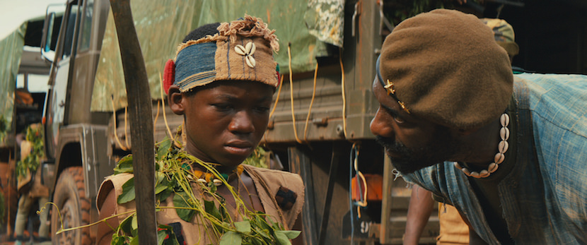 "Idris Elba and Abraham Attah in the Netflix original film ""Beasts of No Nation"" Photo Courtesy Netflix"