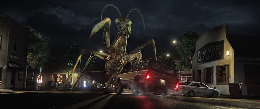 When the creatures from R.L. Stine's (Jack Black) Goosebumps series come to life – including the Praying Mantis (pictured) – it's up to Stine to team up with three teenagers to get these figments of Black's imagination back in the books where they belong and save the town. Courtesy Columbia Pictures.