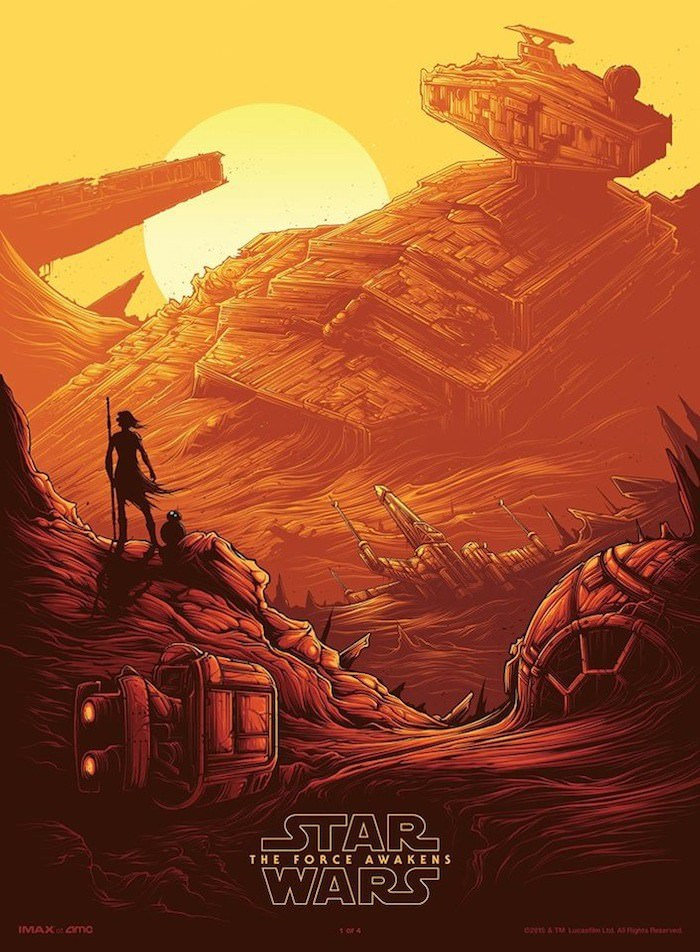 IMAX 'Star Wars: The Force Awakens' poster. Courtesy IMAX