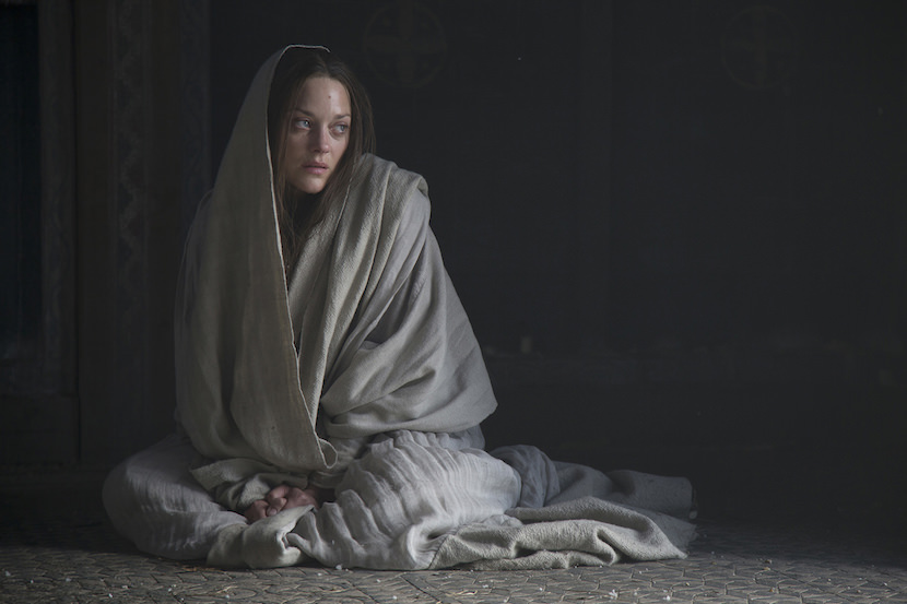 MARION COTILLARD stars in MACBETH. Courtesy The Weinstein Co.