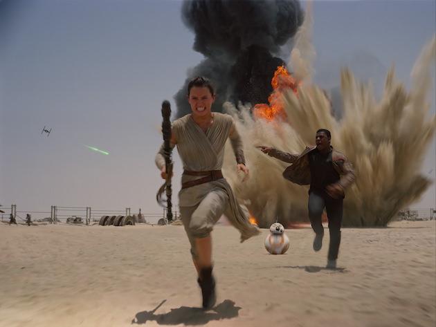 Might Rey (Daisy Ridley) or Finn (John Boyega) be a Skywalker? Star Wars: The Force Awakens..Ph: Film Frame..©Lucasfilm 2015