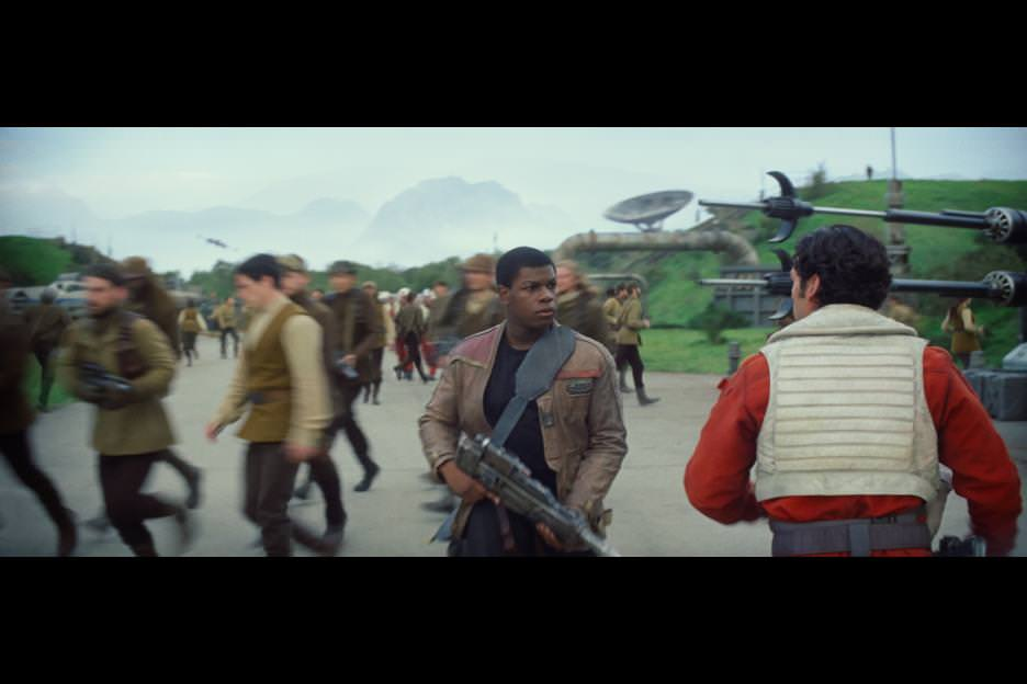 There's the fateful meeting between Finn and Dameron. Courtesy Walt Disney Pictures/Lucasfilm
