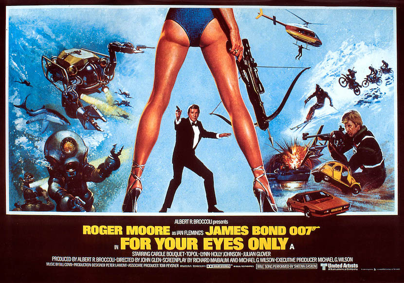 'For Your Eyes Only' theatrical poster. Eon Productions, Designed by Bill Gold