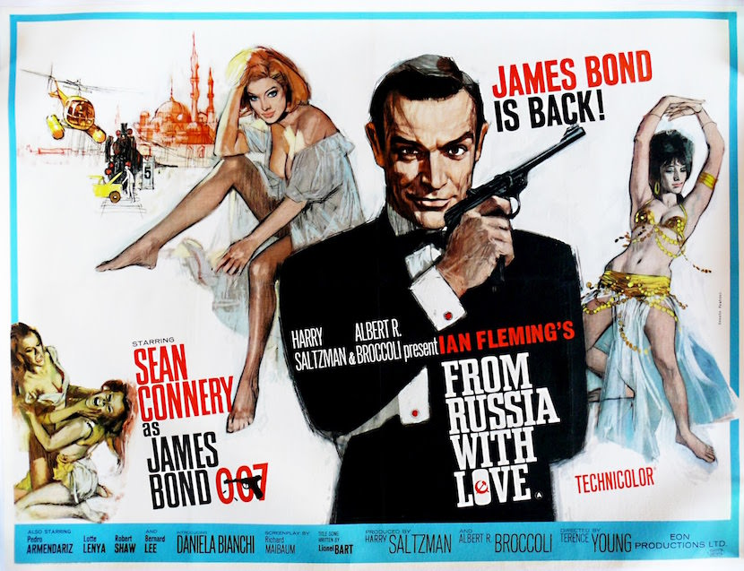From Russia With Love. Created by Eon Productions, Designed and Illustrated by Renato Fratini and Eric Pulford.