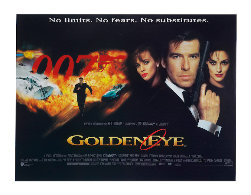 'GoldenEye' theatrical poster. Eon Productions, Designed by Terry O'Neill, Keith Hamshere and George Whitear.